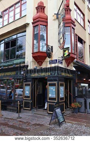Gothenburg, Sweden - August 27, 2018: Irish Embassy Irish Pub And Restaurant In Gothenburg, Sweden.