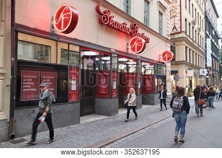 Stockholm, Sweden - August 22, 2018: Skandia Cinema In Norrmalm District, Stockholm, Sweden. Stockho