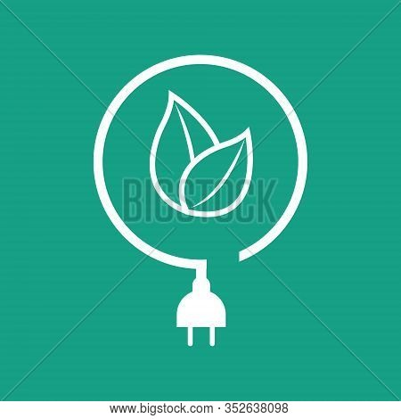 Pictograph Eco Power Icon, Energy Efficiency - Vector Illustration.