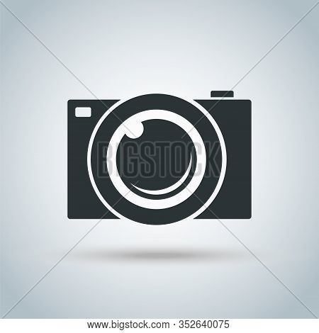 Camera Icon, Modern Simple Snapshot Photography Sign - Vector Illustration.