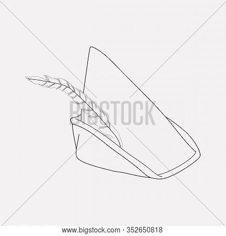 Robin Hood Hat Icon Line Element. Illustration Of Robin Hood Hat Icon Line Isolated On Clean Backgro
