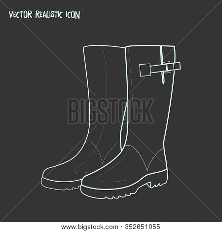 Wellington Boots Icon Line Element. Vector Illustration Of Wellington Boots Icon Line Isolated On Cl