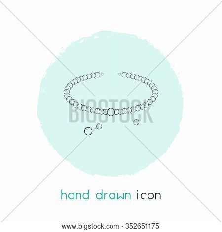 Pearl Necklace Icon Line Element. Vector Illustration Of Pearl Necklace Icon Line Isolated On Clean