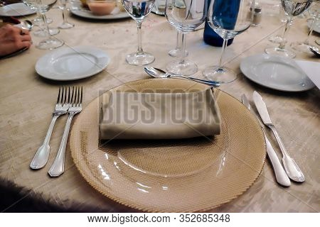 Beautiful Table Set For Wedding Reception, Anniversary Or Event Party