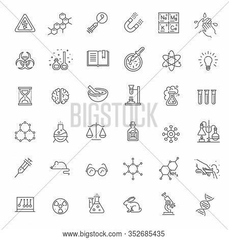 Modern Thin Line Icons Set Of Biochemistry