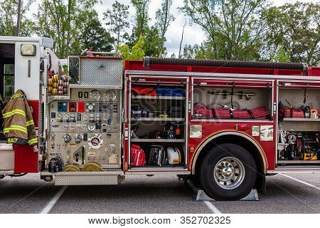 Cumming, Georgia - September 9, 2018: First Responders Are People With Specialized Training And Are