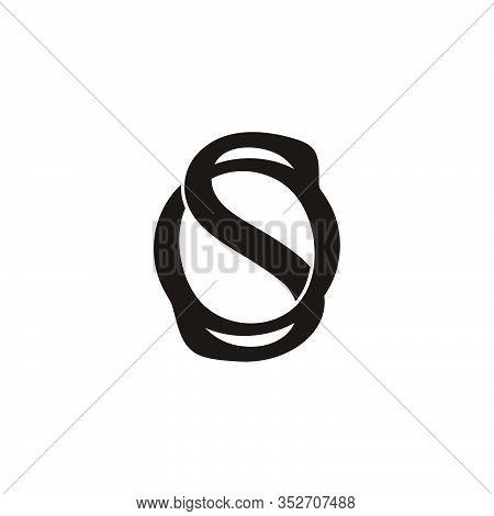 Letter Os Simple 3d Flat Design Symbol Logo Vector