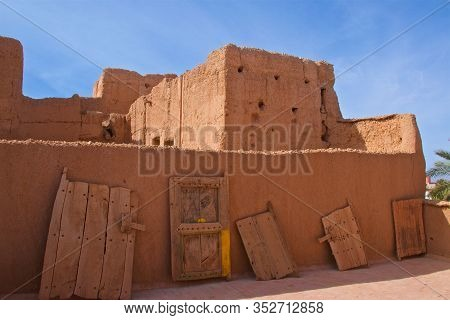 Traditional Moroccan Abodes And Doors Displayed In Berber Museum In Morocco