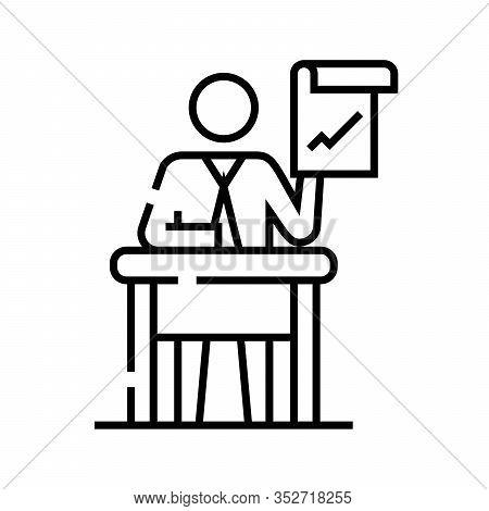 Advisory Line Icon, Concept Sign, Outline Vector Illustration, Linear Symbol.