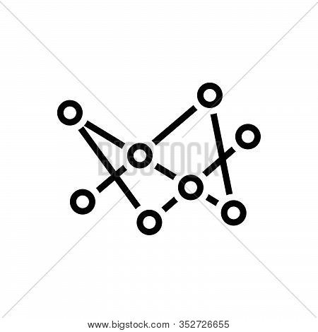 Black Line Icon For Connection Connect Community Connectivity Networking Hub Interaction Branches Ne