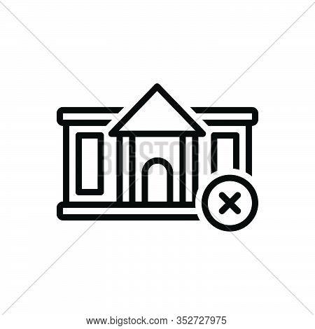 Black Line Icon For Abandon Relinquish Forsake Forgo Abjure Renounce Repudiate Abnegate