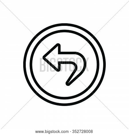Black Line Icon For Back Astern Behindhand Posterior Rearmost Hindmost Hind Backwards Behind Arrow P