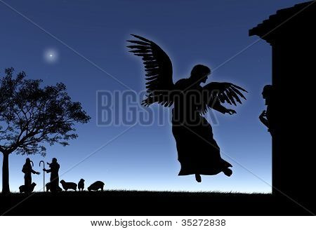 Angel Gives Mary the Good News