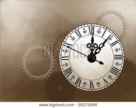Ornate Painted Clock