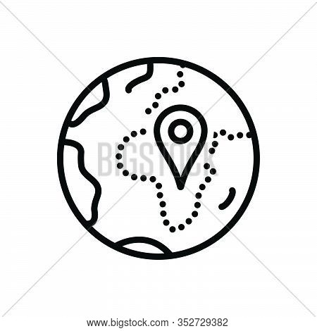 Black Line Icon For Zone Area Sector Region Scope Realm Locality Geo-zone Gps Location Navigation Po