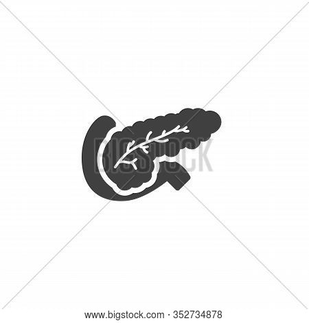 Pancreas Anatomy Vector Icon. Filled Flat Sign For Mobile Concept And Web Design. Pancreas Internal