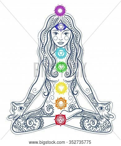 Woman Doing Yoga Concept