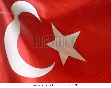 flag of turkey taken in Istanbul Turkey poster
