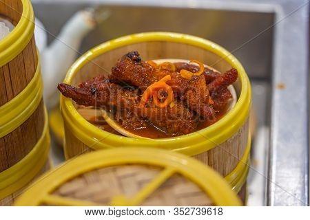 Chinese Styled Stewed Chicken Feet Served At Dimsum Restaurant