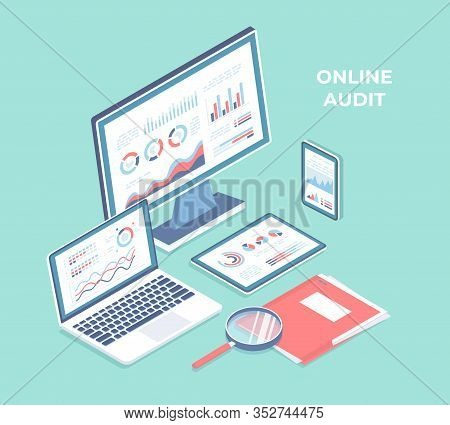 Auditing, Auditor, Businessman, Inspects, Analysis, 3d, Accounting, Assessment, Audit, Background, B