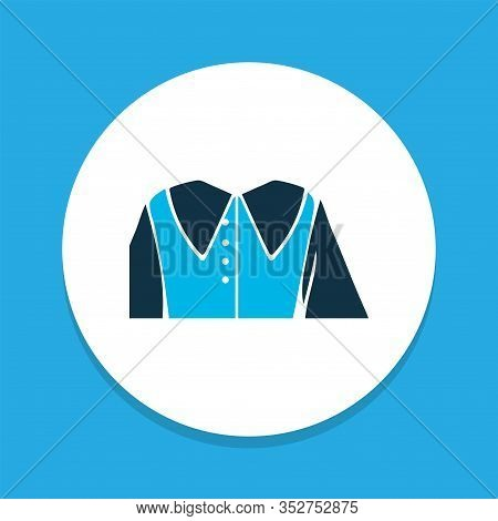 Puritan Collar Icon Colored Symbol. Premium Quality Isolated Shirt Element In Trendy Style.