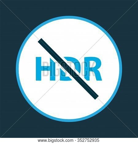 High Dynamic Range Icon Colored Symbol. Premium Quality Isolated Hdr Off Element In Trendy Style.