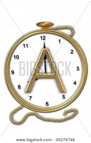 Alphabet Pocket Watch A