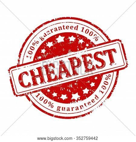 Scratched Round Stamp With The Words - Cheapest 100% Guarantee