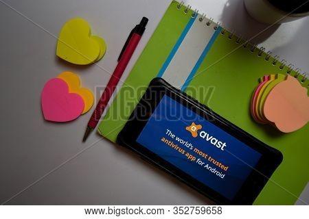 Bekasi, West Java, Indonesia. February 26, 2020 : Avast Mobile Security 2018 - Antivirus & App Lock
