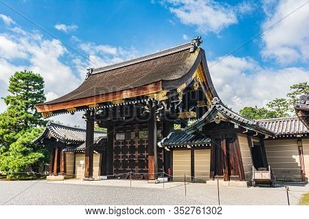 Kyoto, Japan, Asia - September 3, 2019 : Gishu Mon Gate Of The Imperial Palace