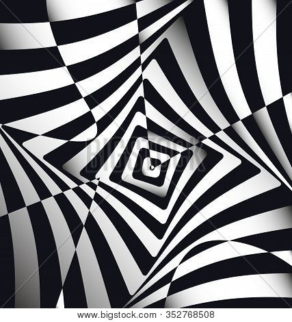 Vector Illustration Black White Abstract Lines And Squares