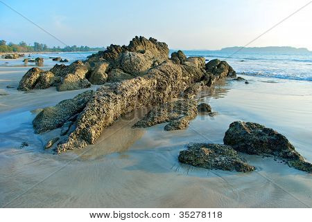 rocks the Bay of Bengal