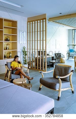Krabi Thailand January 2020, An Eco Friendly Luxuri Resort In Ao Nang Whit A Tropical Garden Around