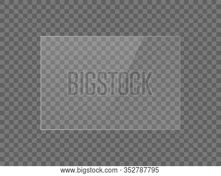 Vector Mirror Reflection Effect Texture For Glass, Plastic Or Acrylic Window. Png Rectangle Shape 3