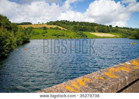 Clatworthy Reservoir in the Brendon Hills on the edge of the Exmoor National Park, Somerset poster