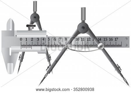 A Compass Is A Device For Measuring And Plotting A Circle, And A Vernier Caliper Is A Universal Meas