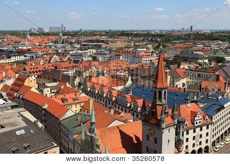 Over the roofs of Munich