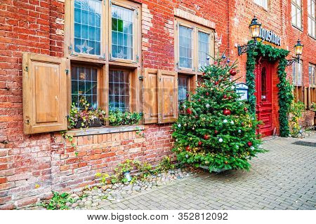 Potsdam, Germany - December, 2019: Street Cafe In Potsdam, Germany
