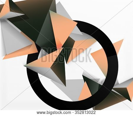 Abstract background, mosaic 3d triangles composition, low poly style design. Illustration For Wallpaper, Banner, Background, Card, Book Illustration, landing page