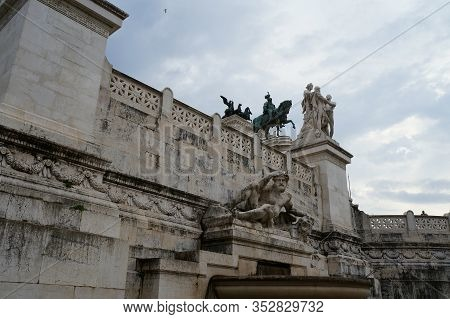 The Victor Emmanuel Ii National Monument Or Altare Della Patria In Rome