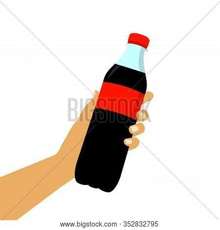 Soda In Hand, Sweet Soda Flat Style.