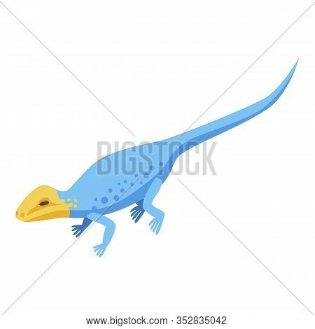 Yellow Head Lizard Icon. Isometric Of Yellow Head Lizard Vector Icon For Web Design Isolated On Whit