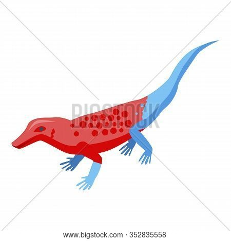 Exotic Lizard Icon. Isometric Of Exotic Lizard Vector Icon For Web Design Isolated On White Backgrou