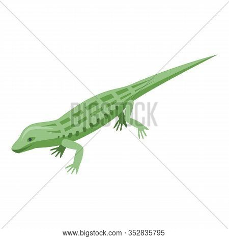 Wild Reptile Icon. Isometric Of Wild Reptile Vector Icon For Web Design Isolated On White Background