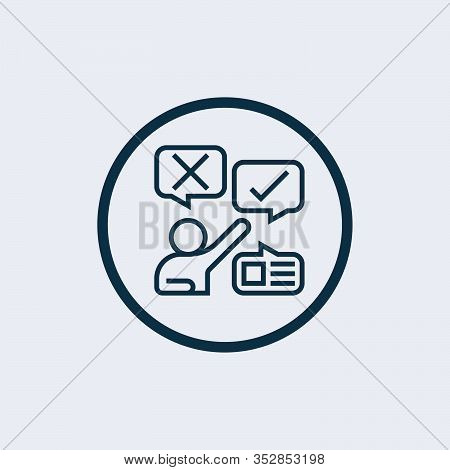 Feedback Icon Isolated On White Background From Influencer Collection. Feedback Icon Trendy And Mode