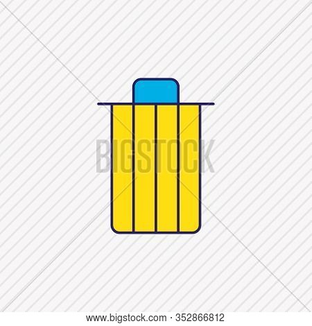 Vector Illustration Of Trash Icon Colored Line. Beautiful User Element Also Can Be Used As Trashcan