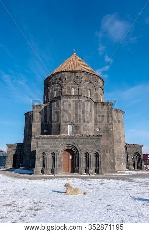 Historical Holy Apostles Church Y And Also Known As 12 Apostles Church And Kumbet Mosque In Kars, Ea
