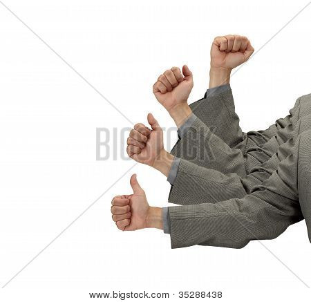 Business Success In Thumbs Up