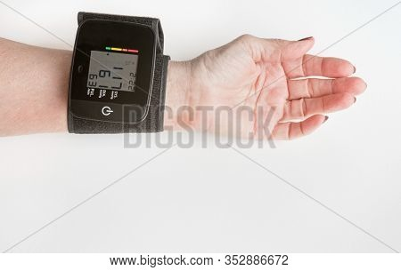 Arm with Wrist Blood Pressure Cuff with Reading