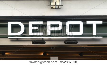 Trier, Germany - September 13, 2019: Depot Decoration Store Logo. Depot Is A German Store For Decora